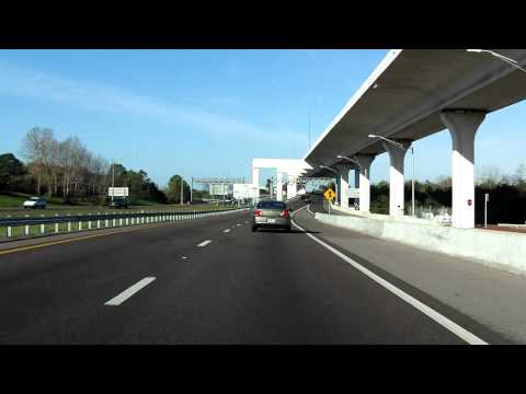 Lee Roy Selmon Expressway (FL 618 Exits 15 to 9) westbound (Local Lanes)