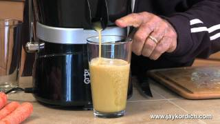 Jay Kordich makes Cantaloupe Juice