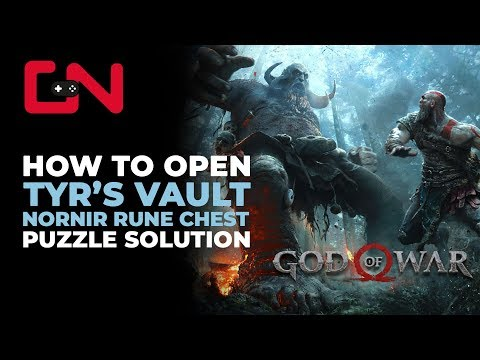 God of War How to open Tyr's Vault Nornir Rune Chest Puzzle Solution