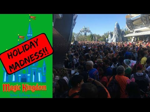 HOLIDAY MADNESS AT WALT DISNEY WORLD'S MAGIC KINGDOM!!