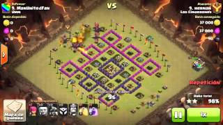 Clash Of Clans videos tutoriales de ataques en guerra contra clan Umm