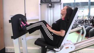 Seated leg press - Bloomsbury Fitness Exercise Videos