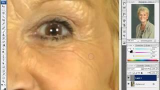 Смягчение морщин - http://уроки-в-фотошопе.рф/