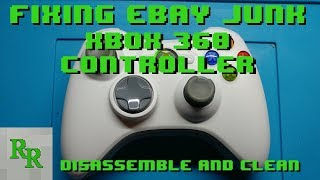 Xbox 360 Controller - Disassemble and clean - Fixing eBay Junk