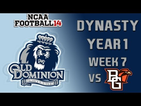 NCAA Football 14 Dynasty - Old Dominion: Episode 7 - YouTube