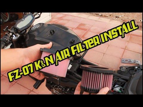 2016 Yamaha FZ-07 K&N Air Filter Install