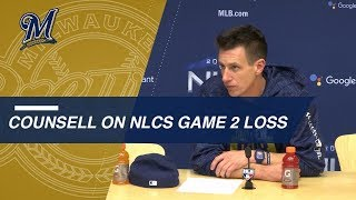 NLCS Gm2: Counsell on bullpen management, Miley