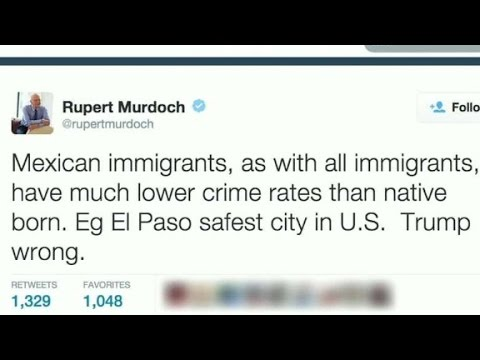 Rupert Murdoch: Trump 'wrong' on immigration