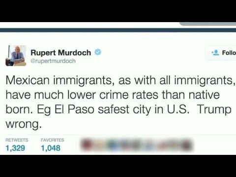 Rupert Murdoch: Trump 'wrong' on immigration