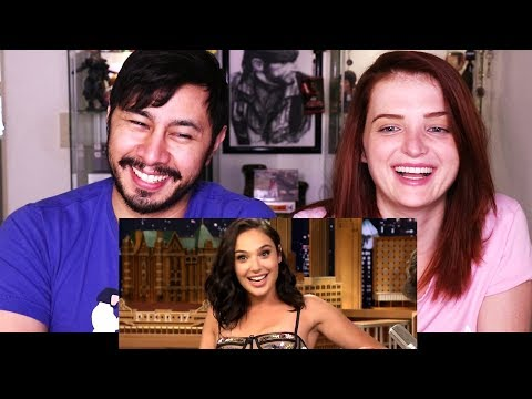 GAL GADOT TRIES A REESE'S PEANUT BUTTER CUP FOR THE FIRST TIME | Reaction w/ Olena!