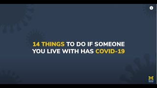 14 Things To Do If Someone You Live With Has COVID-19
