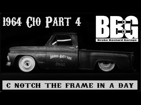 """""""C-notching the frame in a day"""" 1964 Chevy C-10 Rat Rod  Part 4"""