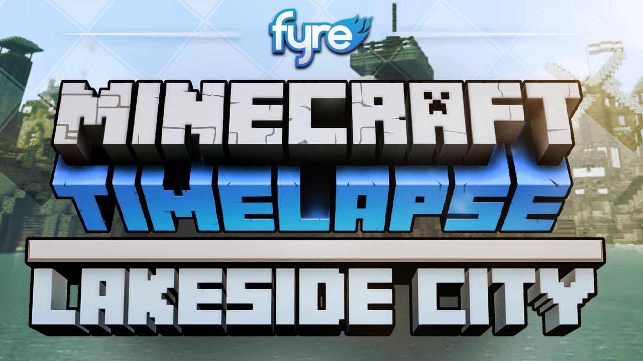 Minecraft Timelapse Lakeside City