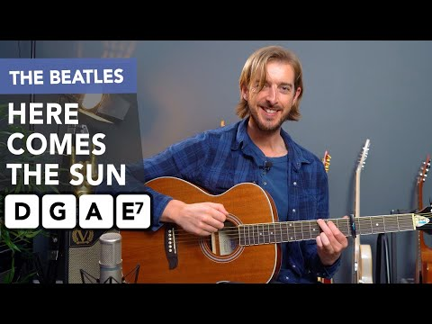 Play HERE COMES THE SUN by The Beatles w EASY Chords - Beginner Friendly Tutorial