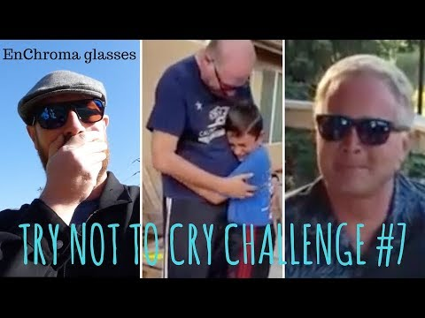 TRY NOT TO CRY CHALLENGE #7, EnChroma glasses