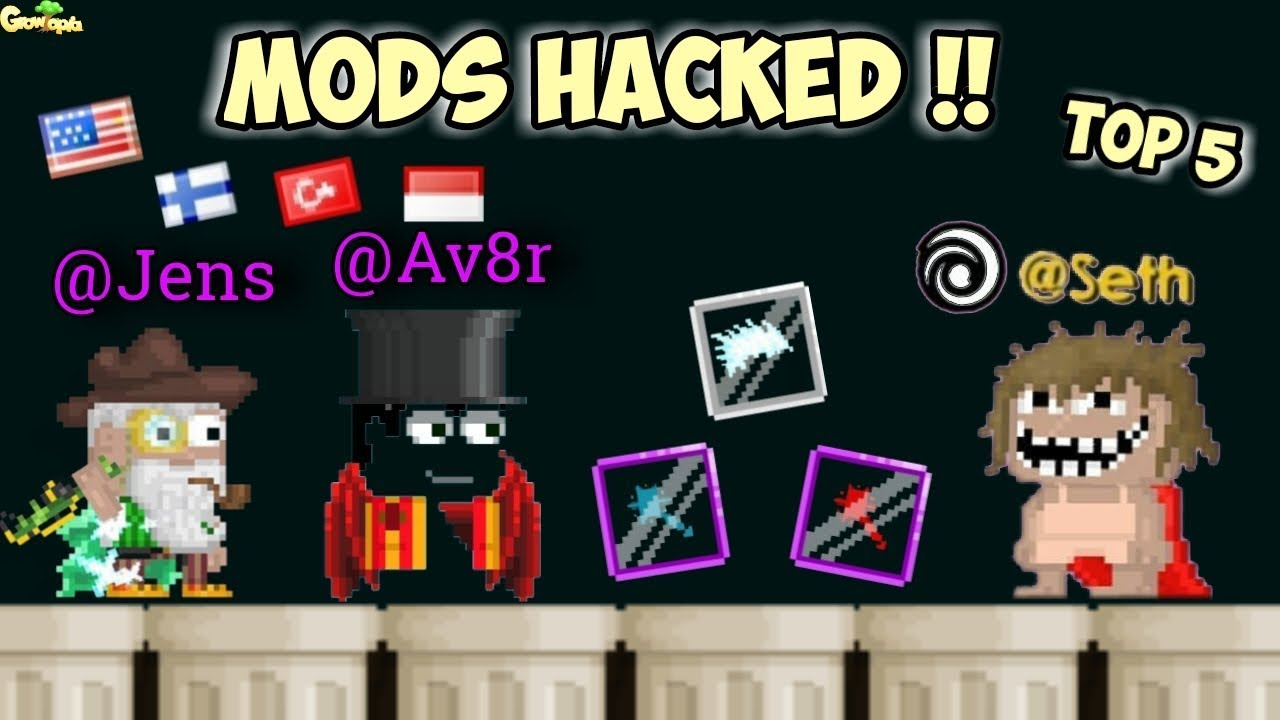 Top 5 Mods Hacked !! ( Mod Scammer ) | GrowTopia