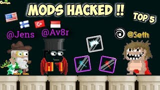 Top 5 Mods Hacked !! ( Mod Scammer )   GrowTopia
