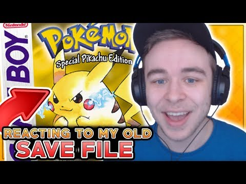 Reacting To My 15 Year Old Pokemon Yellow Save File