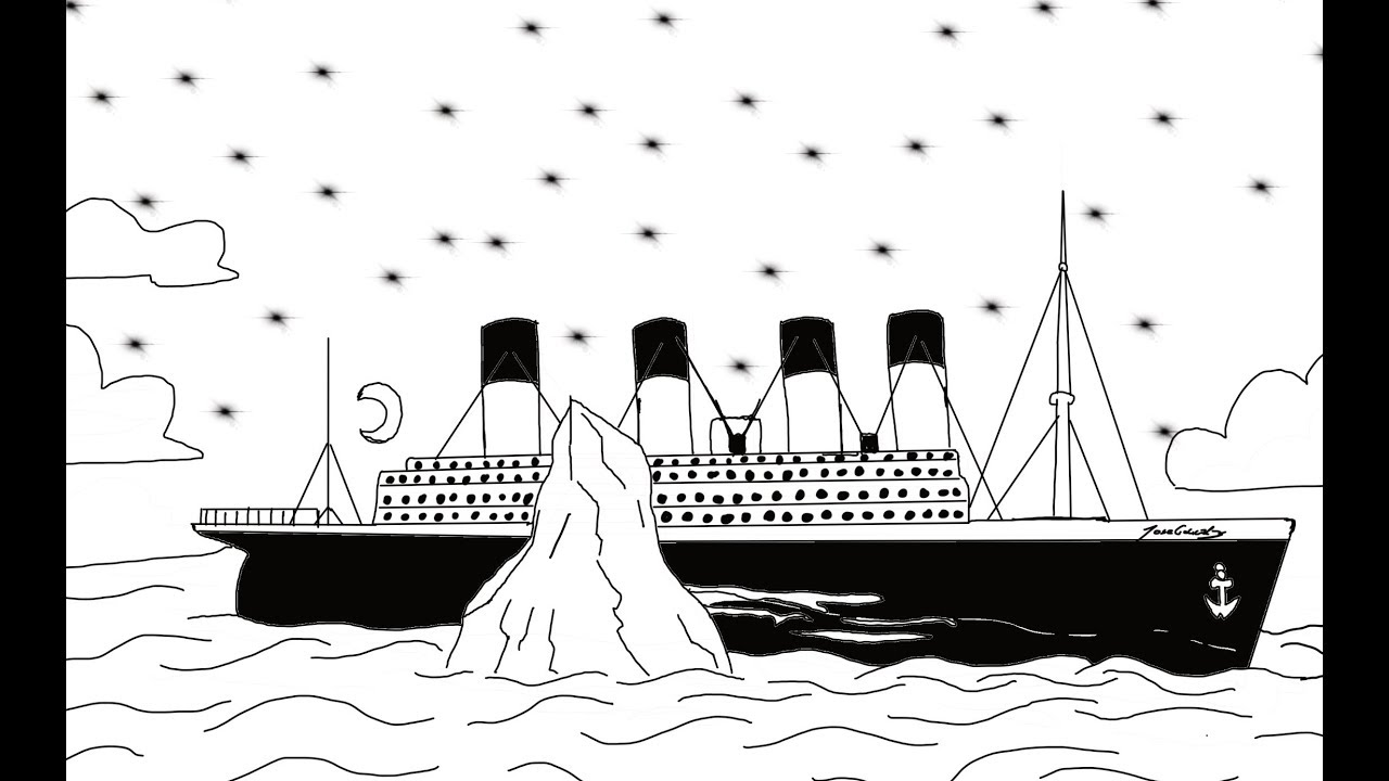 wie du aus aus dem Wort TITANIC einen Cartoon zeichnest, zeichnen für  Anfänger lernen für kinder