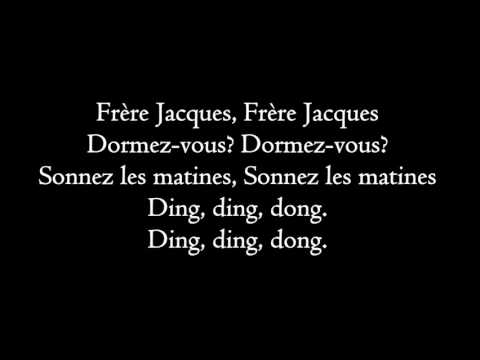 Frere Jacques - lyrics