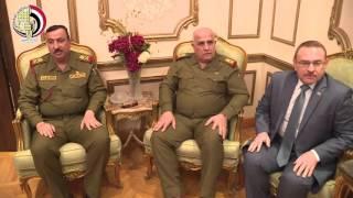 بالفيديو.. صدقي صبحي يستقبل وزير الدفاع العراقي