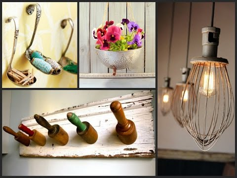 Best Ideas to Reuse Old Kitchen Items - Recycled Utensil Home Decor