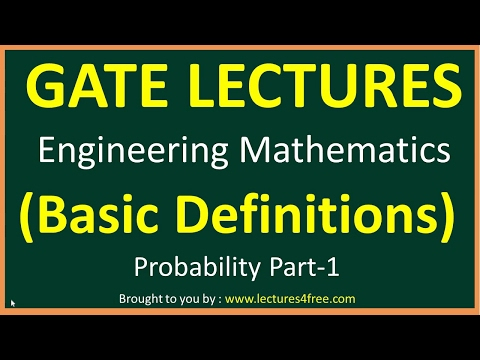 Probability Part 1 || Basic Definitions || GATE Lectures for
