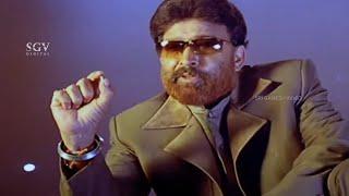 Dr.Vishnuvardhan Khadak Warns To Rowdy Sharat   Kadamba Kannada Movie   Superhit Dialogue Scene