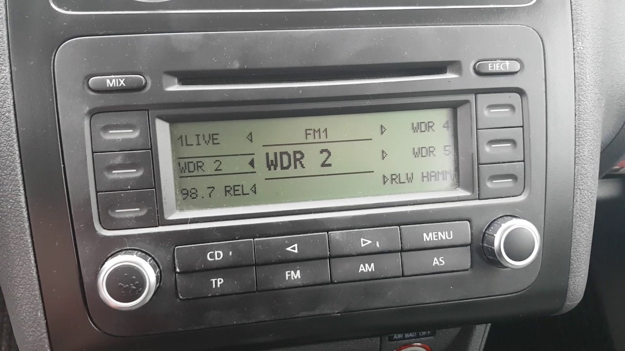 VW Caddy Radio Problem RCD300 - YouTube