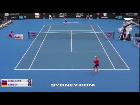 WTA Sydney  kerber VS cibulkova   6-3, 6-1