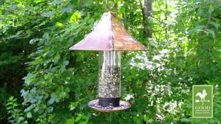 Good Directions T02b Large Palazzo Bird Feeder - Polished Copper
