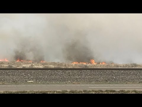 Evacuations ongoing due to grass fire east of I-25 near Hanover Rd.