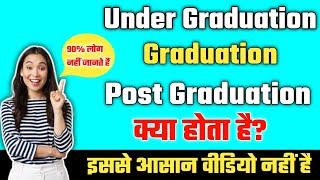 Undergraduate||graduate||Postgraduate||what is the difference Post graduation, graduation,full expla