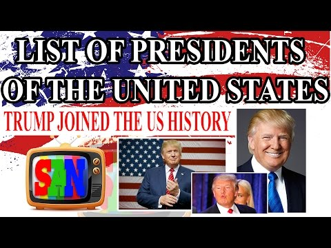 List of Presidents of the United States - Winner of Election 2016 - Donald Trump - [SANtv]