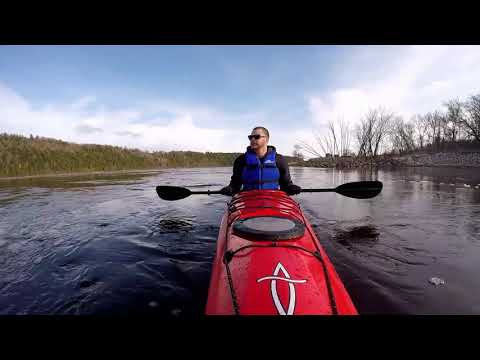 Kayaking Below Mactaquac Hydroelectric Power Station