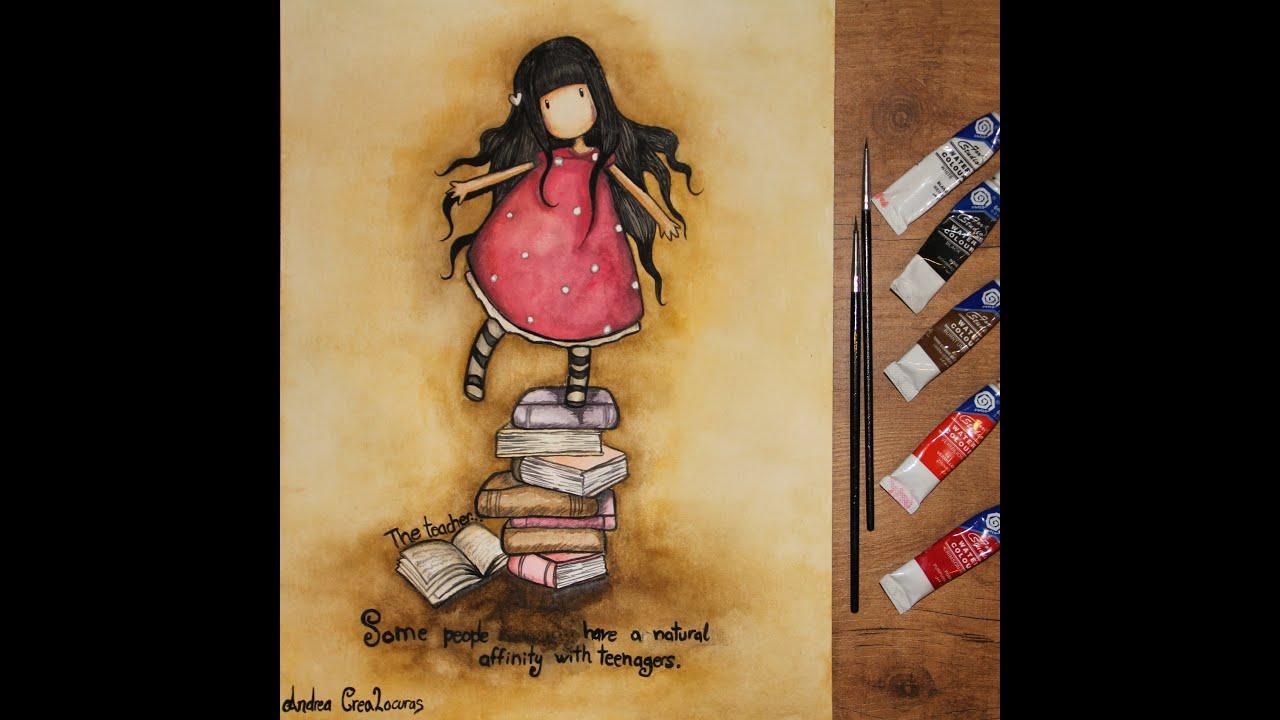 Dibujos De Gorjuss Santoro Para Colorear E Imprimir Gratis: Como Dibujar Una Muñeca Gótica // How To Draw // Gorjuss