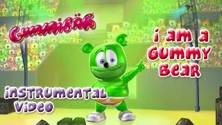 The Gummy Bear Song Instrumental With Lyrics - Gummibär The Gummy Bear