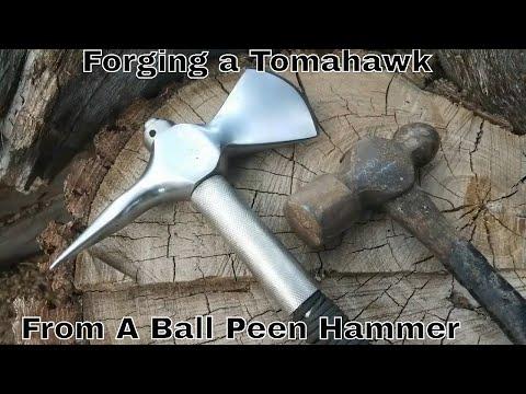 Forging A Tomahawk From Ball Peen Hammer