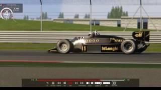 F1旧ターボ時代のLotus 98Tを予選用にしたらブースト5kになって制御不能(´;ω;`)