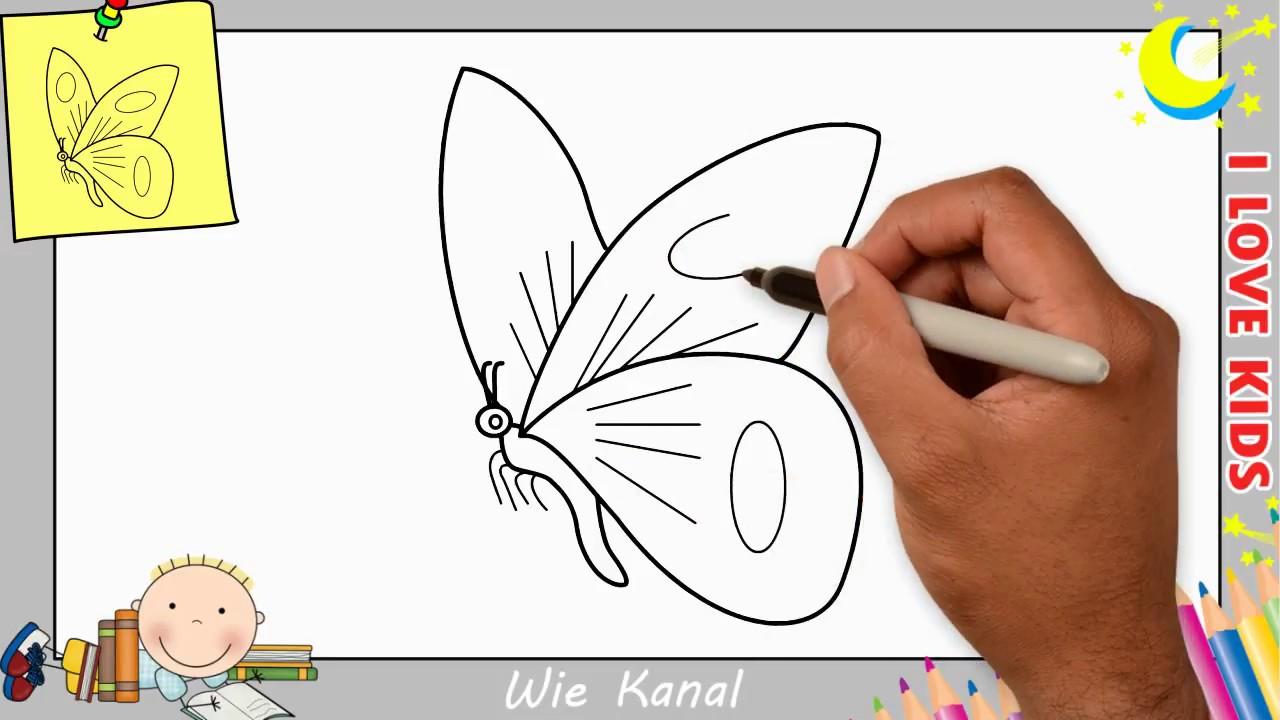 Schmetterling Zeichnen Lernen Einfach Schritt Für Schritt Für