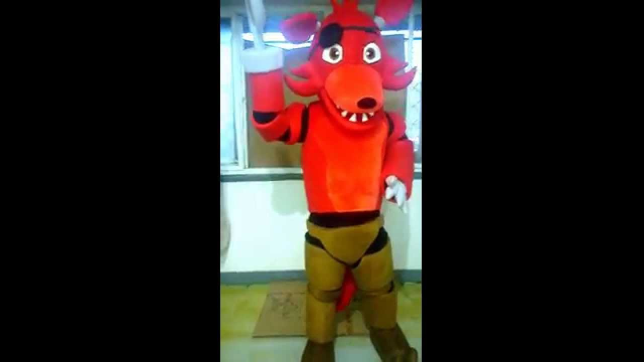 Alive Foxy Mascot Costumes from FNAFFive Nights At Freddyu0027s Foxy - YouTube  sc 1 st  YouTube & Alive Foxy Mascot Costumes from FNAFFive Nights At Freddyu0027s Foxy ...