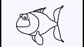 Glitter Fish Drawing Fish with BigHead || Educational Videos for Children