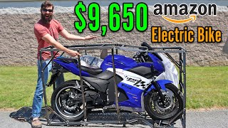 I BOUGHT the most Expensive ELECTRIC motorcycle on Amazon