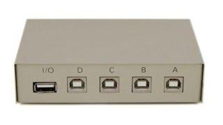 Мій м@ituo 4 порти USB 2.0 повністю екранований ручний перемикач огляду коробка
