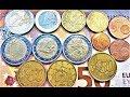1,2,5,10,20,50 euro cent Italy 2002 2004 2005 2006 Money European Union coin Video