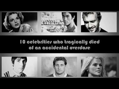 10 celebrities that died of an accidental overdose