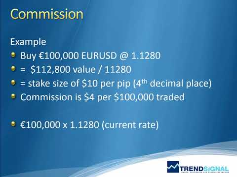 Trading Forex - Commission