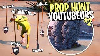 Il devient fou !! On troll le Hunter dans ce Prop Hunt spécial Youtubeur sur Fortnite Créatif !