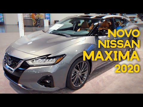 NOVO Nissan Maxima 2020 No MIAMI INTERNATIONAL AUTO SHOW - Walkaround