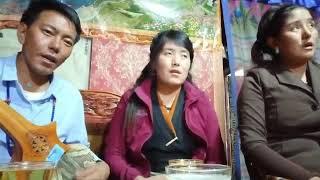 Tibetan Traditional Song. ས་ཆ་མངའ་རིའི་གཞུང་ལ། ཉིན་མཚན་ཁ་བ་སིམ་སིམ་བབས་གི། ཨ་མ་འེ།